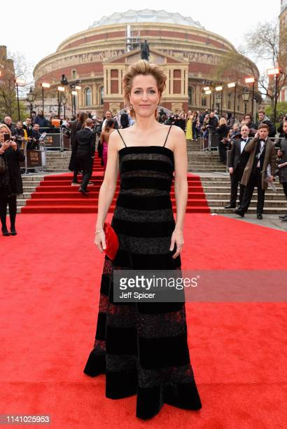 Gillian Anderson attends The Olivier Awards with Mastercard at the Royal Albert Hall on April 07 2019 in London England