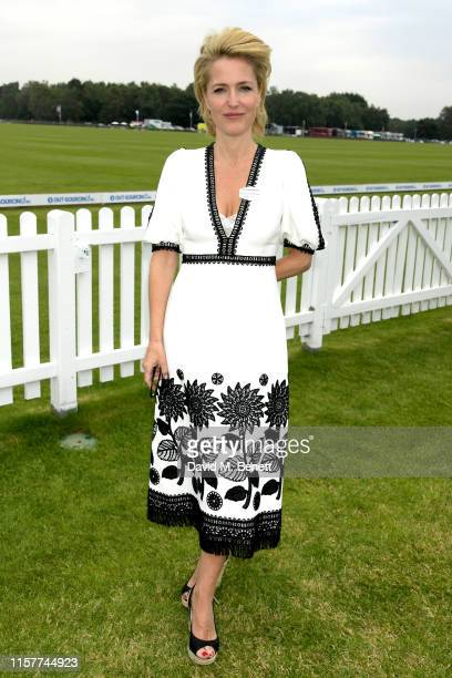 Gillian Anderson attends the OUTSOURCING Inc Royal Windsor Cup Final on June 23 2019 in Windsor England