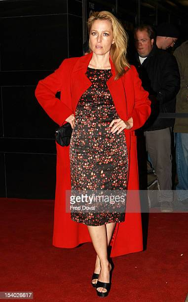 Gillian Anderson attends the Premiere of 'Sister' during the 56th BFI London Film Festival at Curzon Cinema Mayfair on October 12, 2012 in London,...