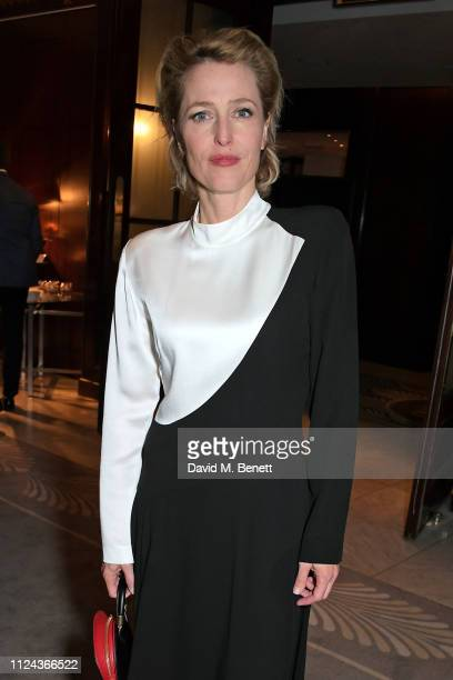 Gillian Anderson attends the press night after party for All About Eve at The Waldorf Hilton on February 12 2019 in London England