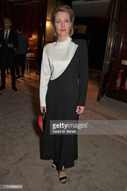 Gillian Anderson attends the press night after party for 'All About Eve' at The Waldorf Hilton on February 12 2019 in London England