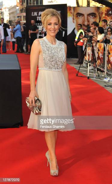 GIllian Anderson attends the UK premiere of 'Johnny English Reborn' at Empire Leicester Square on October 2, 2011 in London, England.