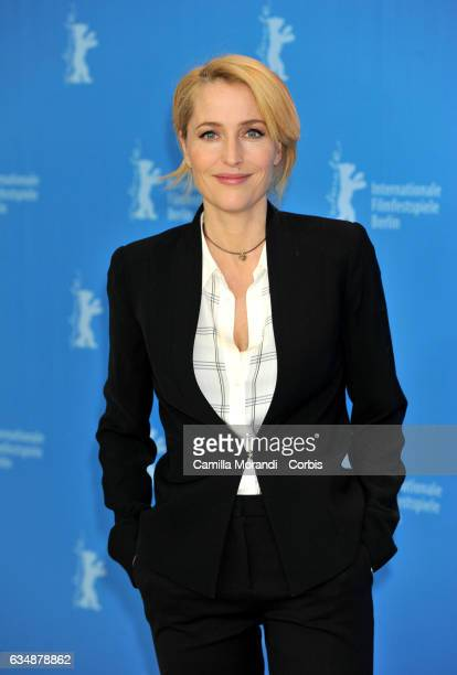 Gillian Anderson attends the 'Viceroy's House' photo call during the 67th Berlinale International Film Festival Berlin at Grand Hyatt Hotel on...