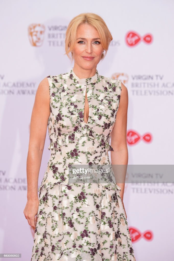 Gillian Anderson attends the Virgin TV BAFTA Television Awards at The Royal Festival Hall on May 14, 2017 in London, England.