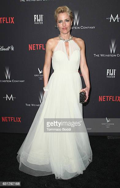 Gillian Anderson attends The Weinstein Company and Netflix Golden Globe Party presented with FIJI Water Grey Goose Vodka Lindt Chocolate and...