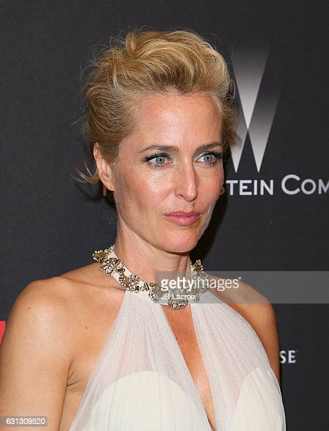 Gillian Anderson attends The Weinstein Company and Netflix Golden Globe Party presented with FIJI Water Grey Goose Vodka Lindt Chocolate and Moroccan...
