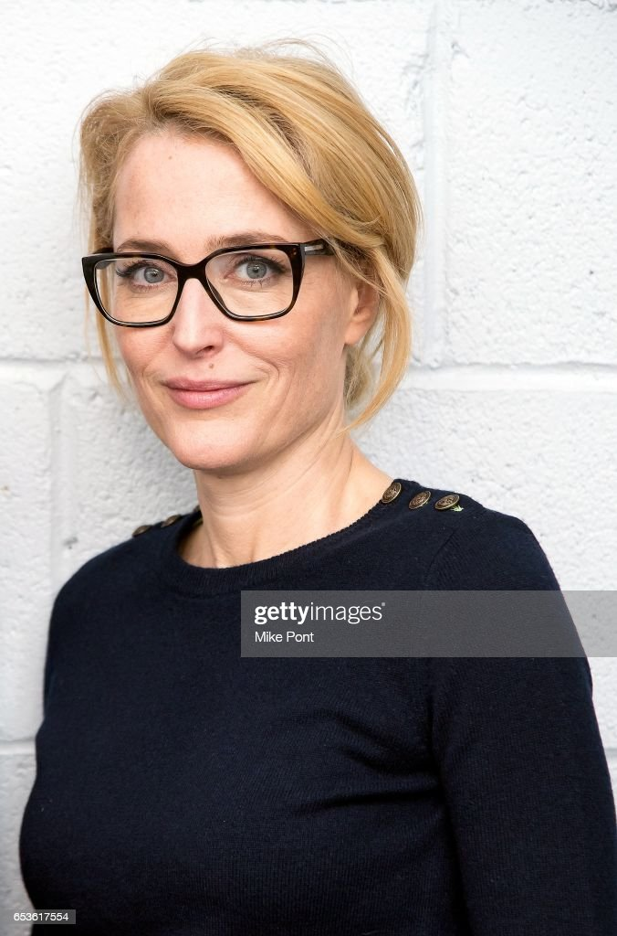 Gillian Anderson attends Tribeca Talks in support of UN Women's HeforShe at SVA Theatre on March 15, 2017 in New York City.