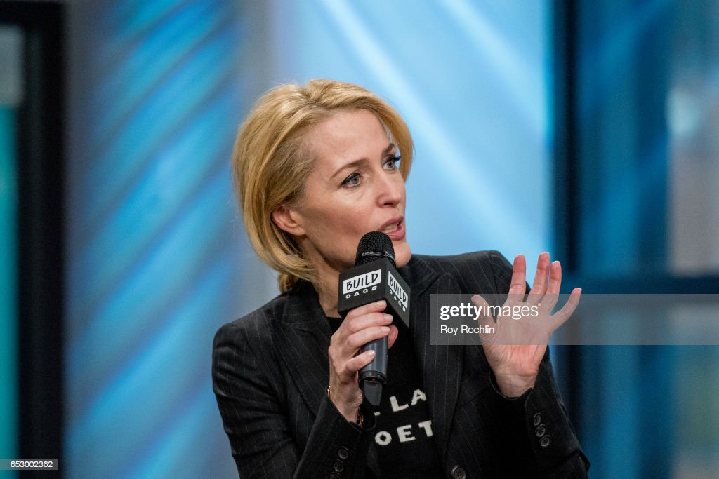 Gillian Anderson discusses 'We: A Manifesto For Women Everywhere' with the Build Series at Build Studio on March 13, 2017 in New York City.