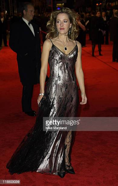 Gillian Anderson during BAFTA Film Awards 2005 Outside Arrivals at Leicester Square in London Great Britain