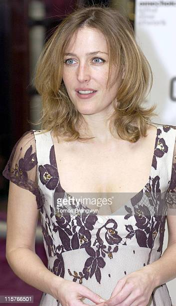Gillian Anderson during Broadcasting Press Guild Television and Radio Awards 2006 Arrivals at Theatre Royal in London Great Britain