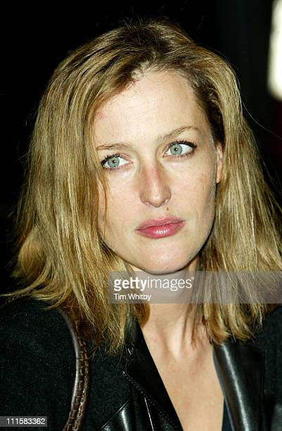 Gillian Anderson during George Michael's A Different Story Gala London Screening Outside Arrivals at Curzon Mayfair in London Great Britain