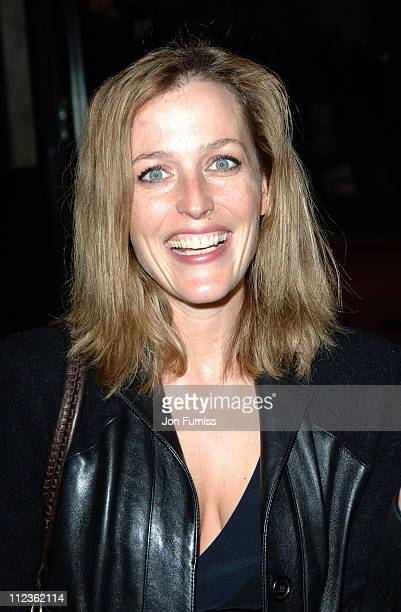 """Gillian Anderson during George Michael's """"A Different Story"""" Gala London Screening - Inside at Curzon Mayfair in London, Great Britain."""