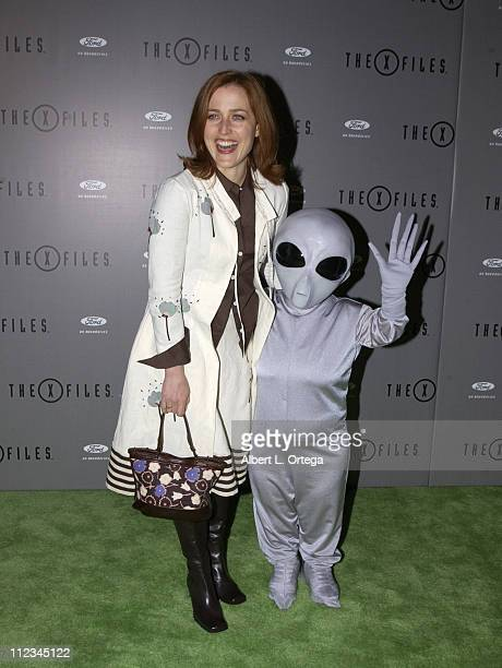Gillian Anderson during The XFiles Series Finale Wrap Party at The House Of Blues in West Hollywood California United States