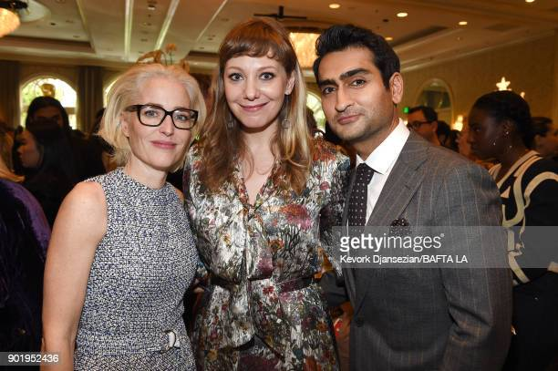 Gillian Anderson Emily V Gordon and Kumail Nanjiani attends The BAFTA Los Angeles Tea Party at Four Seasons Hotel Los Angeles at Beverly Hills on...