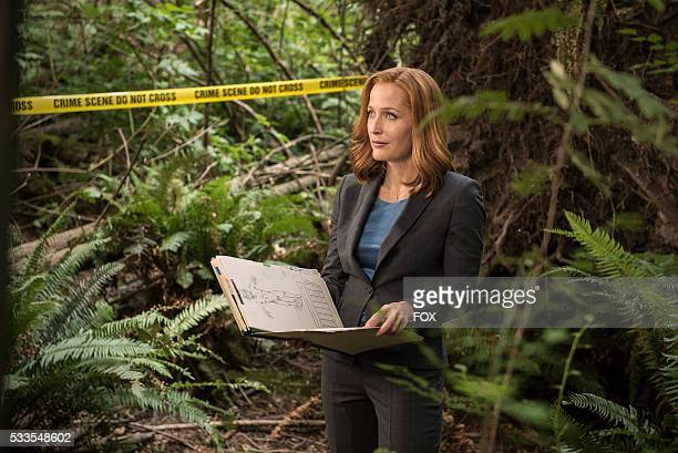 Gillian Anderson in the Mulder Scully Meet the Weremonster episode of THE XFILES airing Monday Feb 1 on FOX