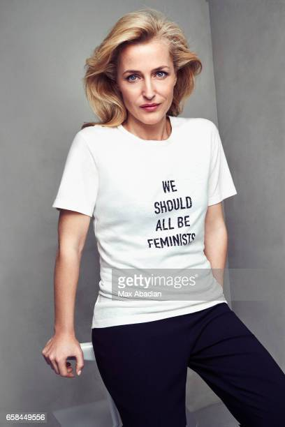 Gillian Anderson is photographed for Red magazine on March 7 2017 in London England