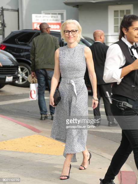 Gillian Anderson is seen on January 06 2018 in Los Angeles California