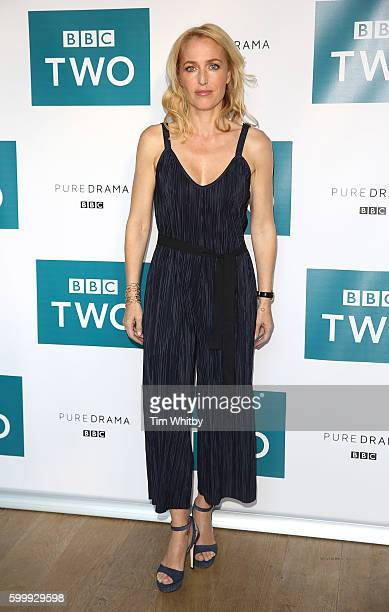 Gillian Anderson poses for a photo as the cast of BBC Two drama 'The Fall' gather for the launch of series three at BFI Southbank on September 7 2016...
