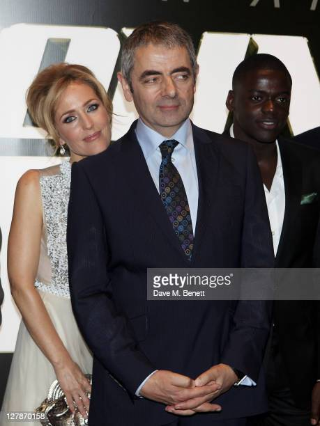 Gillian Anderson, Rowan Atkinson and Daniel Kaluuya arrive at the UK Premiere of 'Johnny English Reborn' at Empire Leicester Square on October 2,...