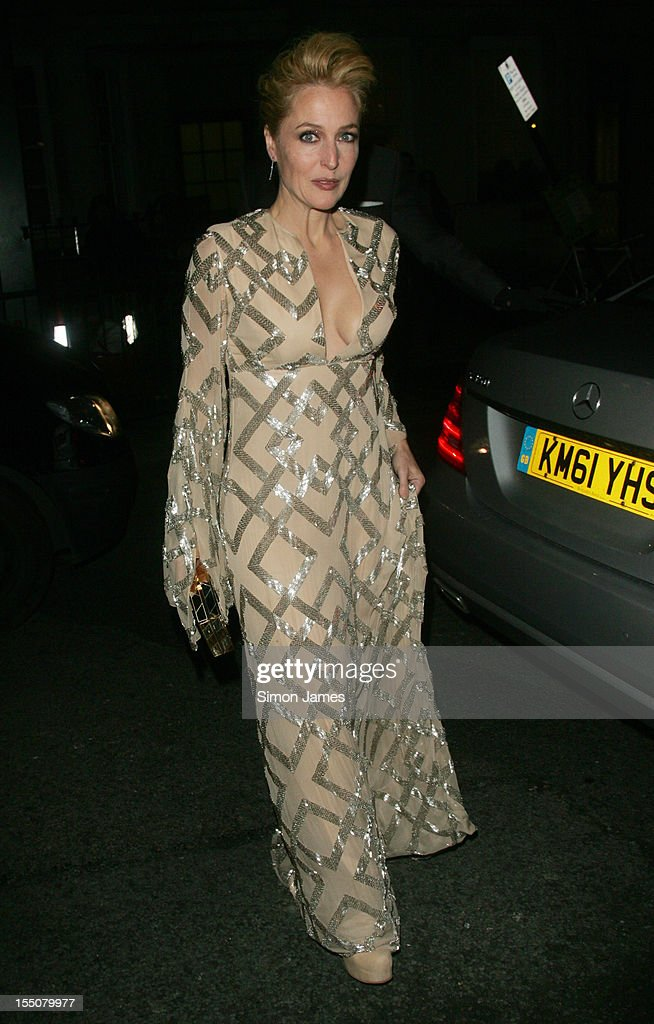 Gillian Anderson sighting on October 31, 2012 in London, England.