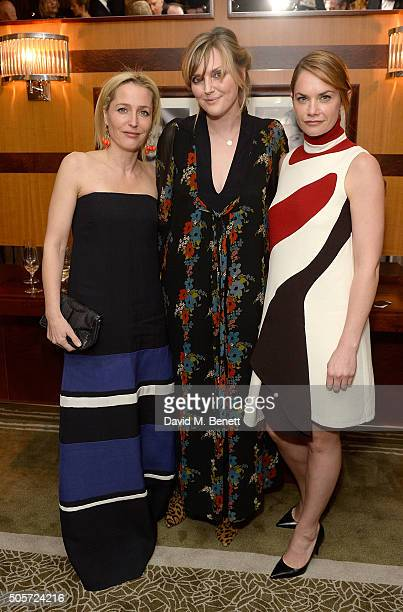 Gillian Anderson Sophie Dahl and Ruth Wilson attend a dinner in honour of Justine Picardie to celebrate the book 'Dior by Avedon' at the Beaumont...