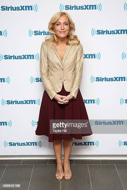 Gillian Anderson visits the SiriusXM Studios on October 9 2014 in New York City
