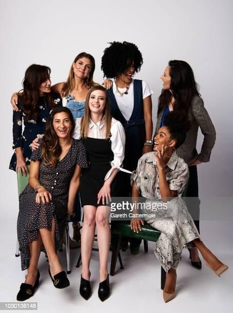 Gillian Barnes, A.M. Lukas, Janine Sherman Barrois, Ivy Agregan Jessica Sanders, Gillian Jacobs and Yara Shahidi from the series 'Shatterbox' pose...