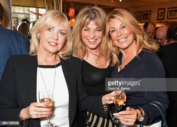 Gillian Duxbury Carol Ashby and Jilly Johnson attend a party celebrating 40 years of Langan's Brasserie on April 3 2017 in London England
