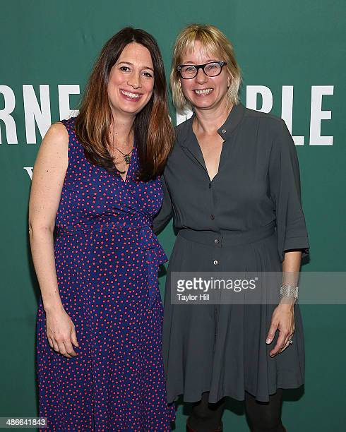 Gillian Flynn and Laura Lippman visit the Barnes & Noble Union Square on April 24, 2014 in New York City.