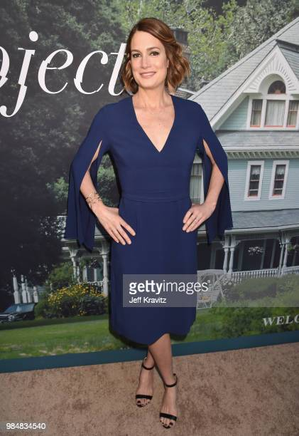 Gillian Flynn attends HBO's Sharp Objects Los Angeles premiere at ArcLight Cinerama Dome on June 26 2018 in Hollywood California