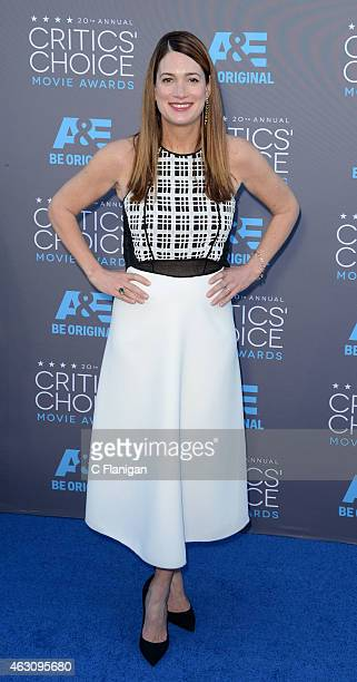 Gillian Flynn attends The 20th Annual Critics' Choice Movie Awards at Hollywood Palladium on January 15 2015 in Los Angeles California
