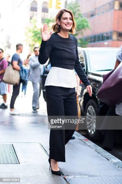Gillian Flynn is seen in NoHo on June 28 2018 in New York City