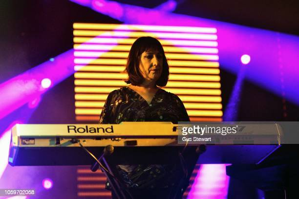 Gillian Gilbert of New Order performs on stage at Alexandra Palace on November 9 2018 in London England