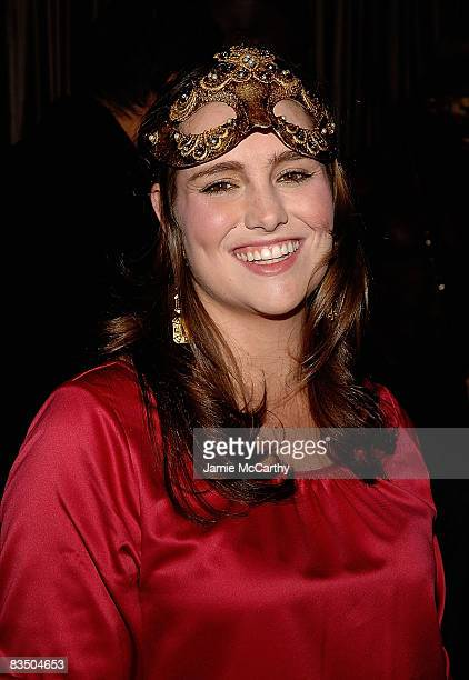 Gillian Hearst attends the 2008 Halloween Masquerade party at 1OAK on October 30 2008 in New York City