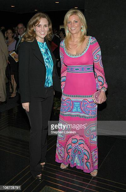 Gillian HearstShaw and Cynthia Lufkin during Benefit Dinner For The Juilliard School and The Royal Academy of Music Arrivals at The Rainbow Room in...