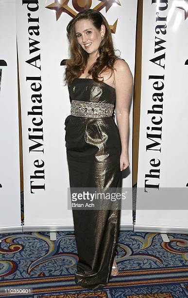Gillian HearstShaw arrives at the 2008 Michael Awards on May 7 2008 at the Marriott Marquis Ballroom in New York City