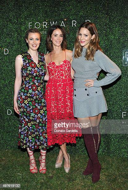 Gillian Jacobs Abigail Spencer and Katharine McPhee attend FORWARD By Elyse Walker and CFDA 2015 Rising Talent Launch Event on November 17 2015 in...