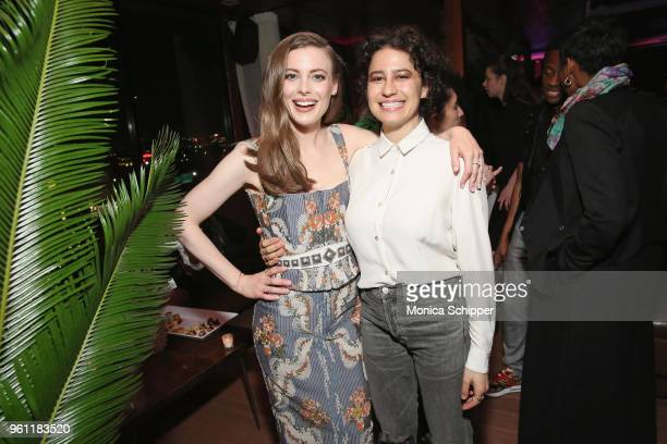 Gillian Jacobs and Ilana Glazer attends Netflix's Ibiza Premiere After Party at Hudson Terrace on May 21 2018 in New York City