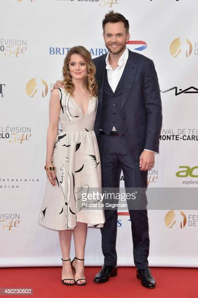 Gillian Jacobs and Joel McHale arrives at the opening ceremony of the 54th Monte-Carlo Television Festival on June 7, 2014 in Monte-Carlo, Monaco.