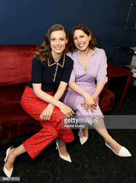 Gillian Jacobs and Vanessa Bayer attend the Los Angeles preview screening of Netflix's film 'IBIZA' at the Arclight Hollywood on May 8 2018 in Los...