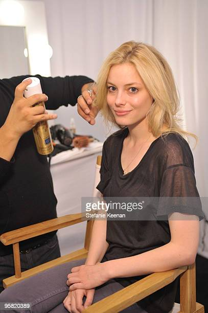 Gillian Jacobs appears at day two of The InStyle Golden Globes Beauty Lounge 2010 at Four Seasons Hotel on January 16 2010 in Beverly Hills California