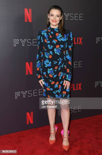 Gillian Jacobs attends Comediennes In Conversation at Netflix FYSEE at Raleigh Studios on May 29 2018 in Los Angeles California