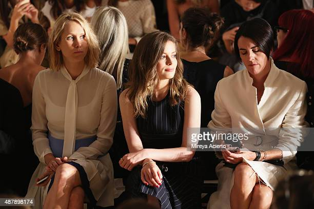 Gillian Jacobs attends the Dion Lee fashion show during Spring 2016 MADE Fashion Week at Milk Studios on September 12 2015 in New York City