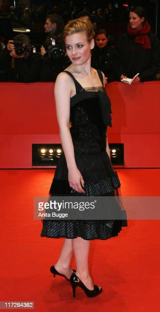 Gillian Jacobs attends the Gardens Of The Night premiere during day three of the 58th Berlinale International Film Festival held at the Berlinale...