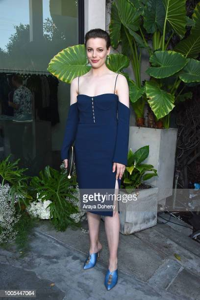 Gillian Jacobs attends the Jonathan Simkhai opens new retail store and brand headquarters In Los Angeles event at Jonathan Simkhai on July 25 2018 in...