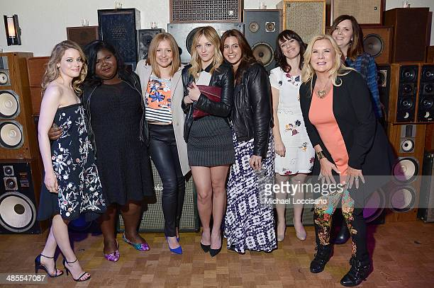 Gillian Jacobs Gabby Sidibe guest Abby Elliot guest Susanna Fogel Anne O'Shea and Joni Lefkowitz attend the Life Partners Premiere after party during...