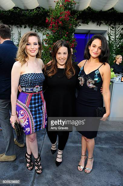 Gillian Jacobs Mary Katrantzou and Jenny Slate attend the MATCHESFASHIONCOM and Mary Katrantzou Cocktail Party to Celebrate an Exclusive Collection...