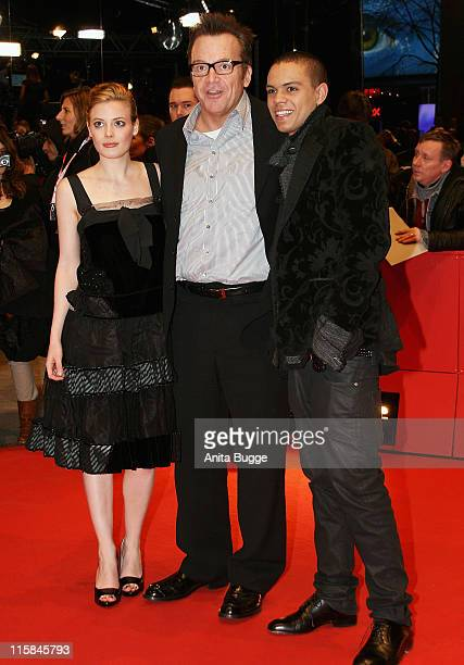 Gillian Jacobs Tom Arnold and Evan Ross attends the 'Gardens Of The Night' premiere during day three of the 58th Berlinale International Film...