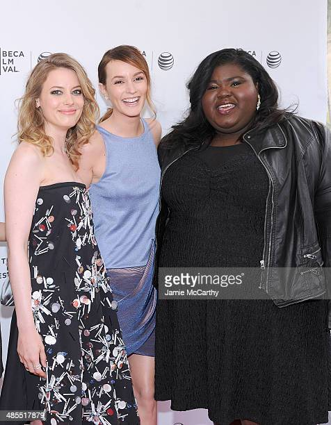 Gillian JacobsLeighton Meester and Gabby Sidibe attend the 'Life Partners' screening during the 2014 Tribeca Film Festival at SVA Theater on April 18...