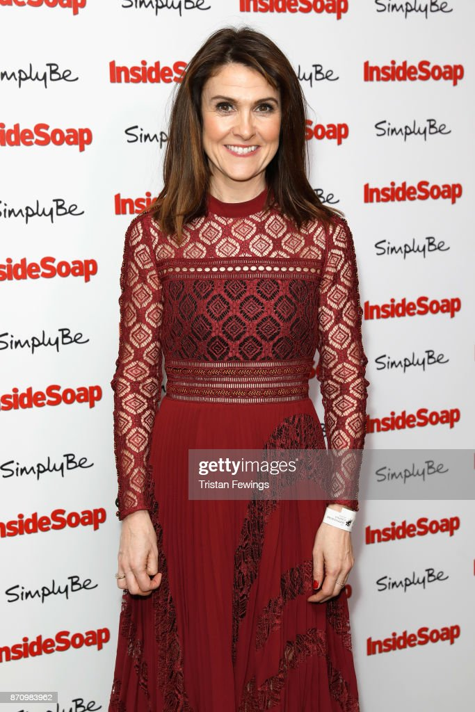 Gillian Kearney, winner of the award for Best Bad Girl, attends the Inside Soap Awards held at The Hippodrome on November 6, 2017 in London, England.
